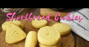 Shortbread Cookies menggunakan 3 Bahan | Biskut Raya