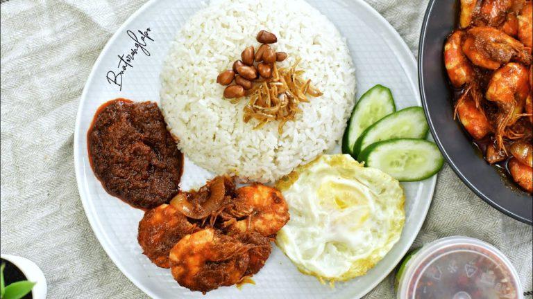 Resepi Nasi Lemak Sambal Udang – yang paling penting sedap