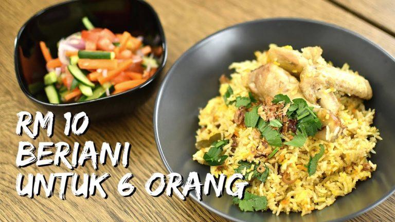 Resepi Nasi Beriani | Briyani Ayam- Dengan RM10 – 15 dah boleh hasilkan nasi beriani yang sedap untuk 5 orang makan